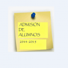 Admisión alumnado 2014/2015