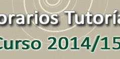 Horarios Curso 2014/2015