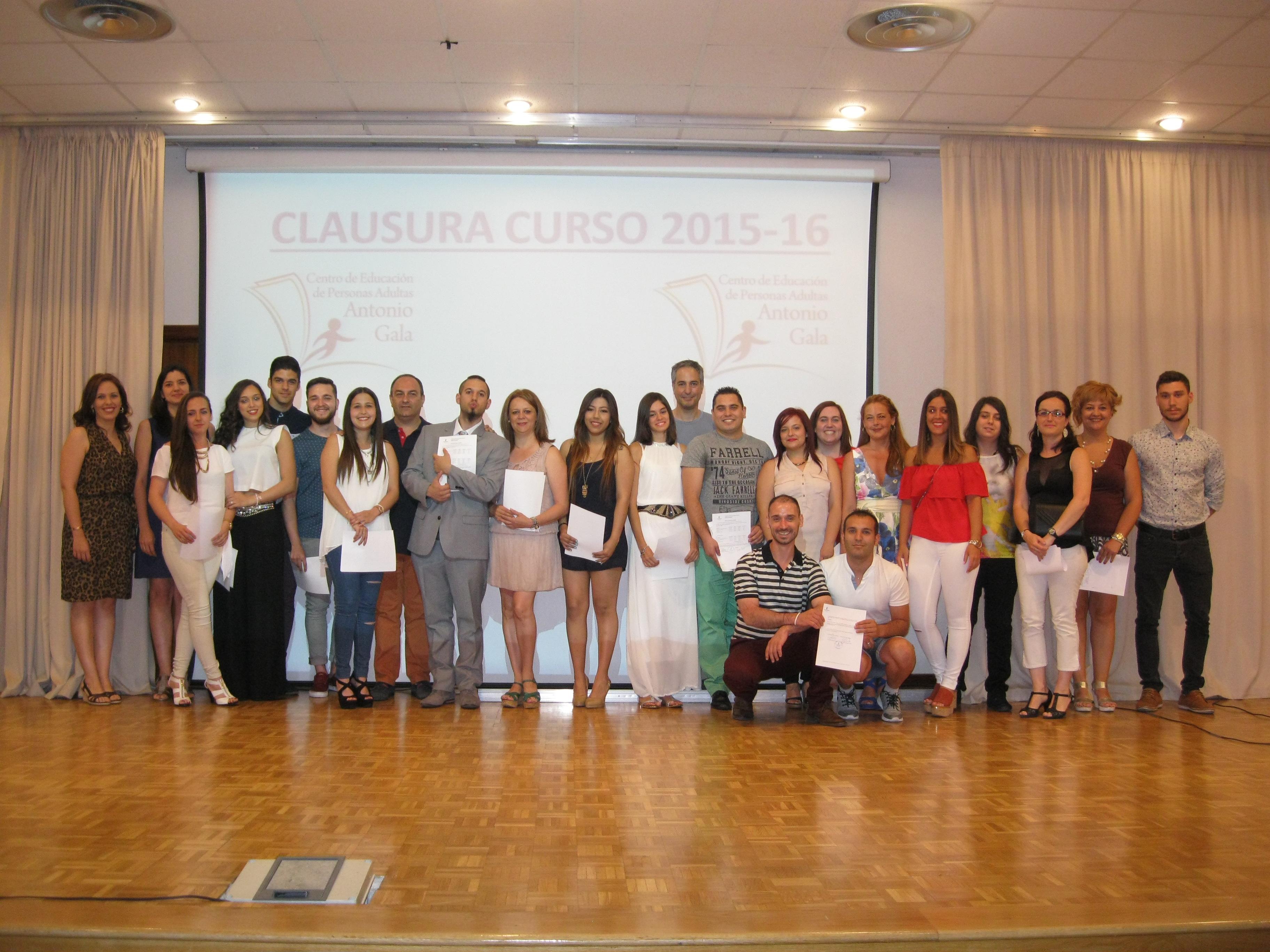 ACTO DE CLAUSURA DEL CURSO 2015-16